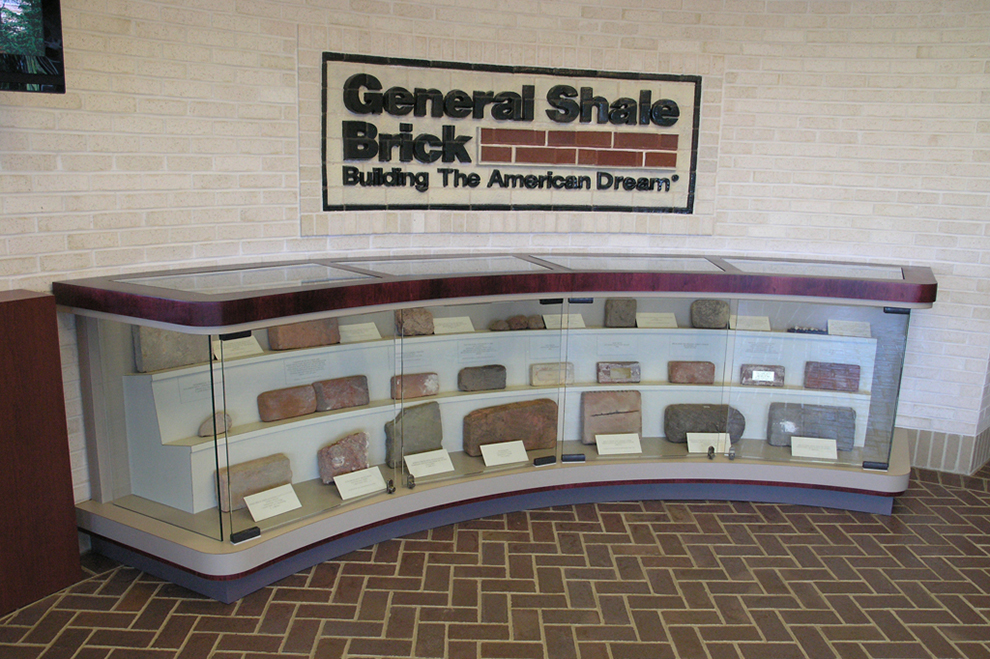 General Shale Ancient Brick Display